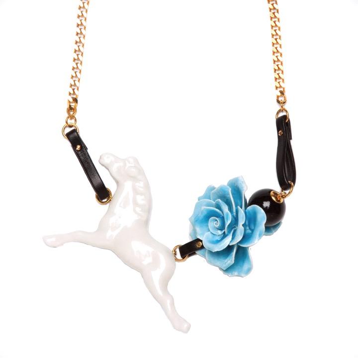 Andresgallardo Kette Flower Horse gold