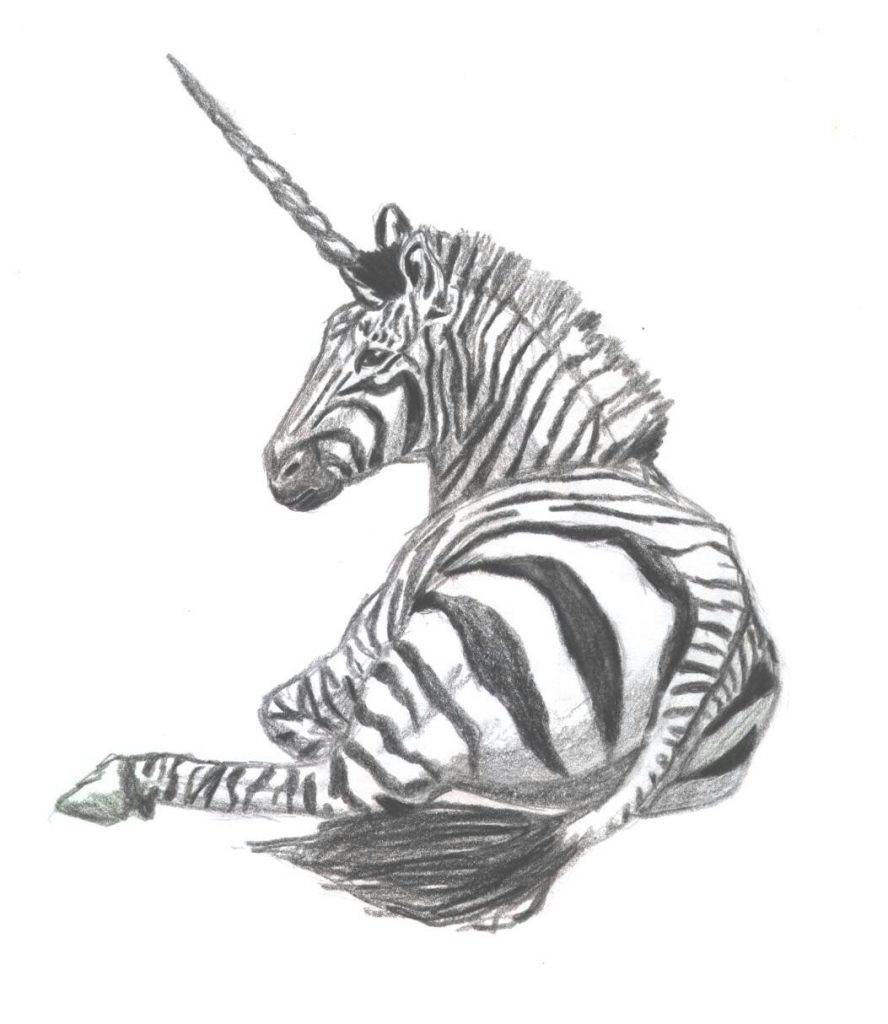 Zebracorn Black and White